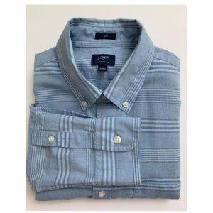 J Crew Factory Men's Summer Plaid Slim Fit Shirt